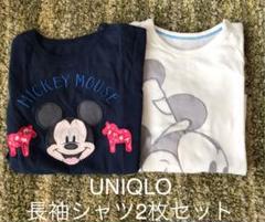 """Thumbnail of """"UNIQLO ミッキー 長袖Tシャツ 2枚セット 90cm"""""""