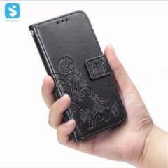 "Thumbnail of ""特価 新品 人気!iphone11 手帳型 ラッキークローバーレトロ(ブラック)"""