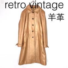"Thumbnail of ""W2775*vintage 羊革 ロングレザーコート ベージュ M"""