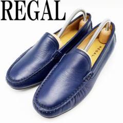 "Thumbnail of ""REGAL リーガル ローファー 23 革靴 ネイビー スリッポン レディース"""