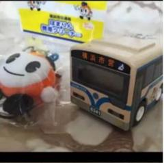 "Thumbnail of ""横浜 市営 バス はまりん ストラップ ミニカー 時計 ハマリン クリーナー"""