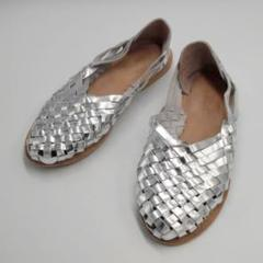 """Thumbnail of """"SHOES AND MORE メッシュシューズ シルバー 37 23.5㎝"""""""