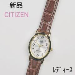 "Thumbnail of ""新品 匿名配送 シチズン 腕時計 レディース アナログ 皮ベルト"""