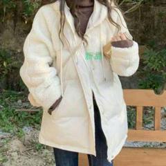 """Thumbnail of """"新作   羊の毛を組み合わせて新型の秋冬韓国版のゆったりした帽子のオーバーのt"""""""