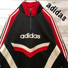 """Thumbnail of """"【デサント 】アディダス adidas ハーフジップ ジャージ 刺繍ロゴ XL"""""""