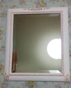 "Thumbnail of ""専用です!イタリア ピンク系木製壁掛けミラー"""