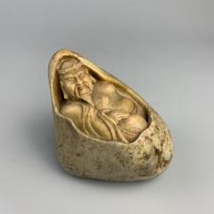 "Thumbnail of ""印材  人物  石彫刻  置物"""