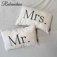 "Thumbnail of ""リュバンシュ Mr. & Mrs. クッション ウェディング"""