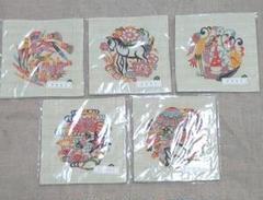 "Thumbnail of ""芹沢銈介 伊曽保文(イソップ)コースター 5枚"""