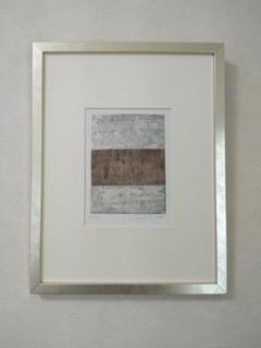 """Thumbnail of """"アート180 「リズム2(ダークブラウン)」 チェコの銅版画 モダンアート"""""""
