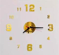 "Thumbnail of ""3Dウォールクロック ゴールド DIY壁時計 ウォールステッカー 韓国 立体時計"""