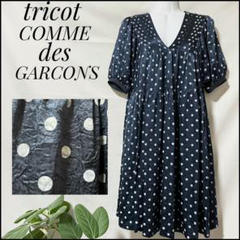 "Thumbnail of ""tricot COMME des GARCONS ドット ネイビー シワ加工"""