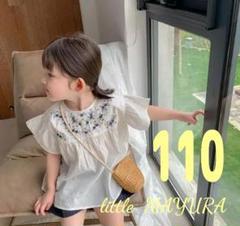 """Thumbnail of """"新品 刺繍 入り チュニック ワンピース 110 ホワイト 白 韓国 人気"""""""