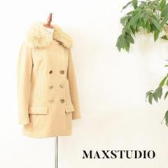 """Thumbnail of """"C5436 MAX STUDIO ウールコート ファー ベージュ S"""""""