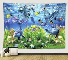 "Thumbnail of ""新作!金具付きタペストリーE38 海底 水族館 海 ダイビング 魚"""