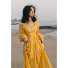"""Thumbnail of """"刺繍フランスの港の風の偽の風のビーチのワンピース女性s-LU"""""""