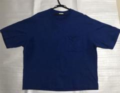"""Thumbnail of """"GU 5分袖ワイドフィットTシャツ  ブルー  オーバーサイズTシャツ"""""""