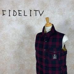 "Thumbnail of ""FIDELITV フェデリティ ダウンベスト リバーシブル チェック柄 サイズM"""