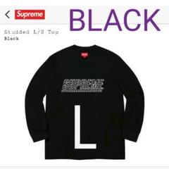 【新品】Supreme StuddedL/STop L 黒