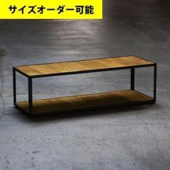 "Thumbnail of ""◆黒皮鉄の味わい◆ アイアン家具 テレビボード オーク色"""