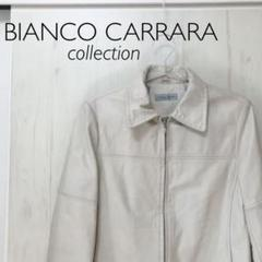 "Thumbnail of ""BIANCO CARRARA 本革レザージャケット 牛革シンプルレザージャケット"""