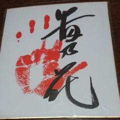 "Thumbnail of ""貴乃花手形付きサイン"""