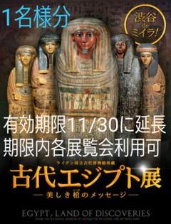 "Thumbnail of ""1枚 ライデン博物館所蔵 古代エジプト展 Bunkamura/五島美術館招待券㉔"""