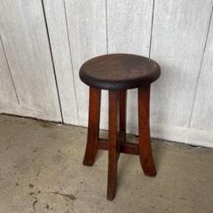 """Thumbnail of """"昭和レトロ 古い木製スツール 丸椅子 アンティーク ビンテージ"""""""