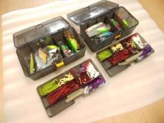 2箱セット バス釣りルアーセット☺ワーム&ハードルアー ケース付