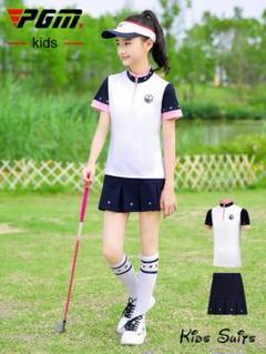 "Thumbnail of ""ゴルフ服子供ゴルフ服女の子半袖tシャツ青少年プリーツスカート春夏スーツ"""