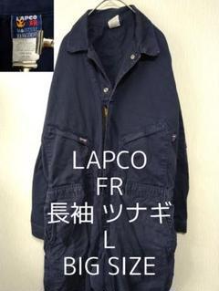 "Thumbnail of ""L LAPCO FR 長袖 ビッグ オールインワン ツナギ ネイビー 紺色"""