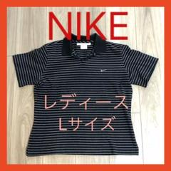 """Thumbnail of """"セール❣️美品❣️レディース ナイキ  ゴルフウェア ボーダーシャツ 半袖 Lサイズ"""""""