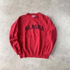 """Thumbnail of """"ALASKA アラスカ 刺繍ロゴ スウェット レッド 古着 レア ストリート"""""""