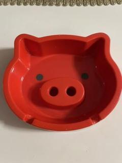 "Thumbnail of ""PIGGY ダイカット灰皿 ブタさん 赤 レッド 豚"""