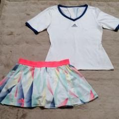 """Thumbnail of """"アディダスadidas♡ホワイトTシャツ&スコートセットアップ❦"""""""