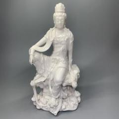 """Thumbnail of """"中国 陶器  自在観音 菩薩像 在銘 白磁 仏教美術 仏像"""""""