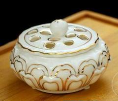 "Thumbnail of ""※Z陶器の薫香炉の檀香盤香炉の白磁のハスの花の香薫炉の送り瓢箪の香を挿します3"""