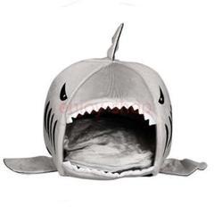 """Thumbnail of """"サメの口スタイル付き犬小屋猫の巣ペット四季クマハウスペット犬暖かいソフト寝袋"""""""