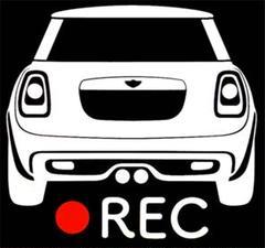 """Thumbnail of """"無料車種変更可能 ミニ f54 ドラレコ 後方 ドライブレコーダー ステッカー"""""""