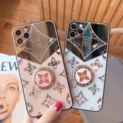 "Thumbnail of ""iPhone12 ケース 紫色 新品 可愛い リング ミラー 保護ケース"""