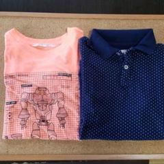 "Thumbnail of ""【H&M】130cm Tシャツ&ポロシャツ セット"""