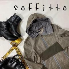 "Thumbnail of ""soffitto ソフィット レザージャケット フード 本革 サイズM グレー"""