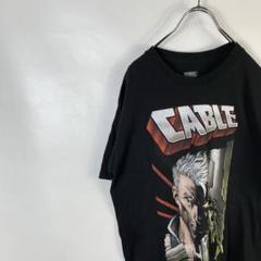 """Thumbnail of """"C746 マーベル ビッグプリント メキシコ製 L 黒 ブラック 半袖Tシャツ"""""""