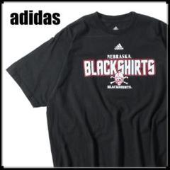 "Thumbnail of ""MS258 アディダス NEBRASKA BLACK SHIRTS ロゴTシャツ"""