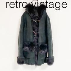 "Thumbnail of ""W1278*vintage フォックスファー付き ダッフルコート 黒ブラック"""