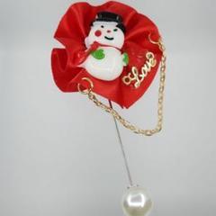 """Thumbnail of """"XM-083 ブローチ 雪だるま クリスマス"""""""