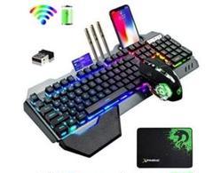"Thumbnail of ""ゲーミングキーボードマウスセット、リンボーLED 充電式 無線"""