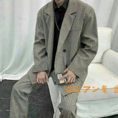 "Thumbnail of ""カジュアル スーツ セットアップ チェック柄 韓国 ファッション メンズ-\K"""