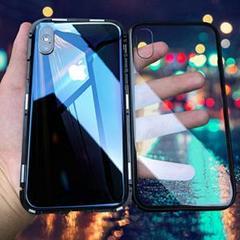"""Thumbnail of """"iphoneX iphoneXS クリアケース 両面 ハードケース 黒"""""""