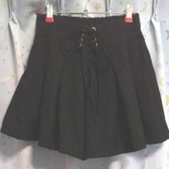 """Thumbnail of """"キュロット スカート パンツ 黒 ブラック リボン"""""""